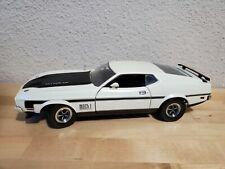 Euc Sun Star 118 Diecast White 1971 Ford Mustang Mach 1 Ram Air 351 V8