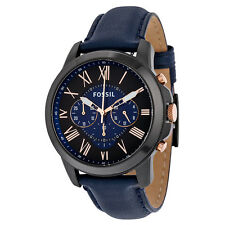 Fossil Grant Black Dial Mens Quartz Watch FS5061