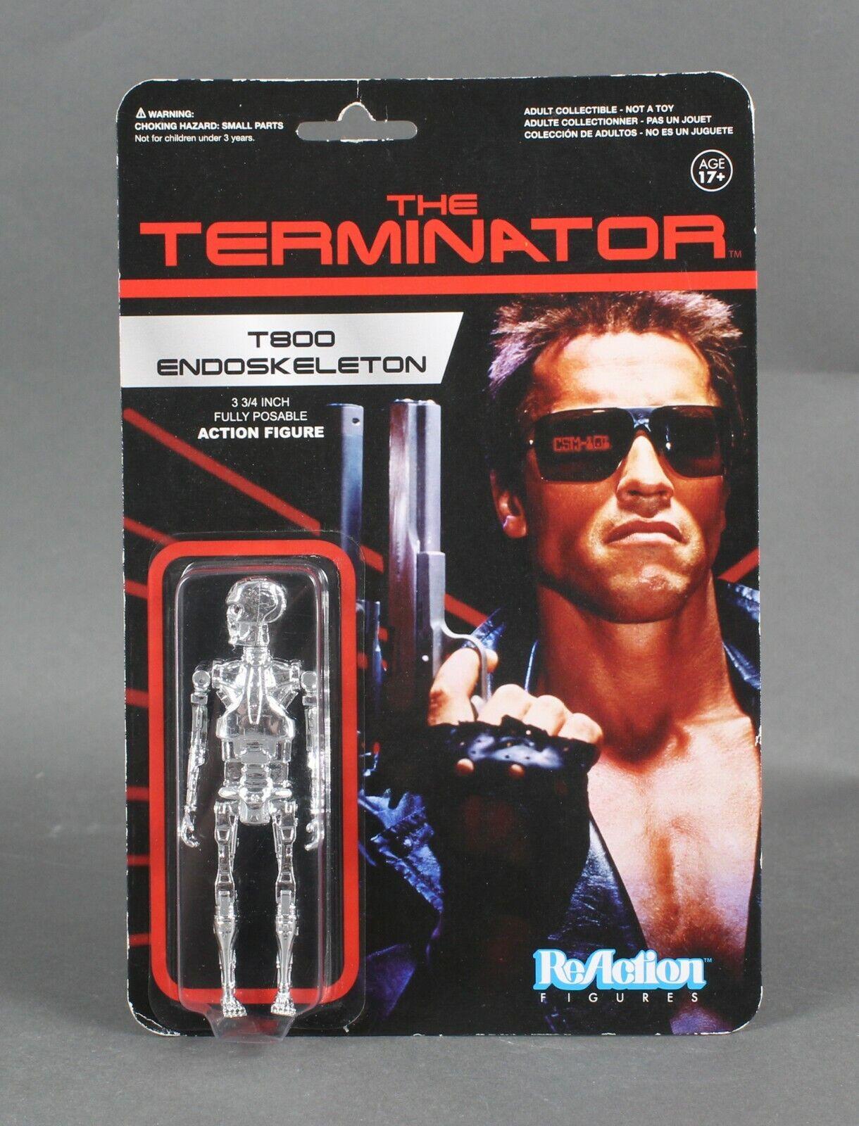 Arnold Schwarzenegger Terminator Chrome T-800  3-3//4 Retro FUNKO ReAction Figure