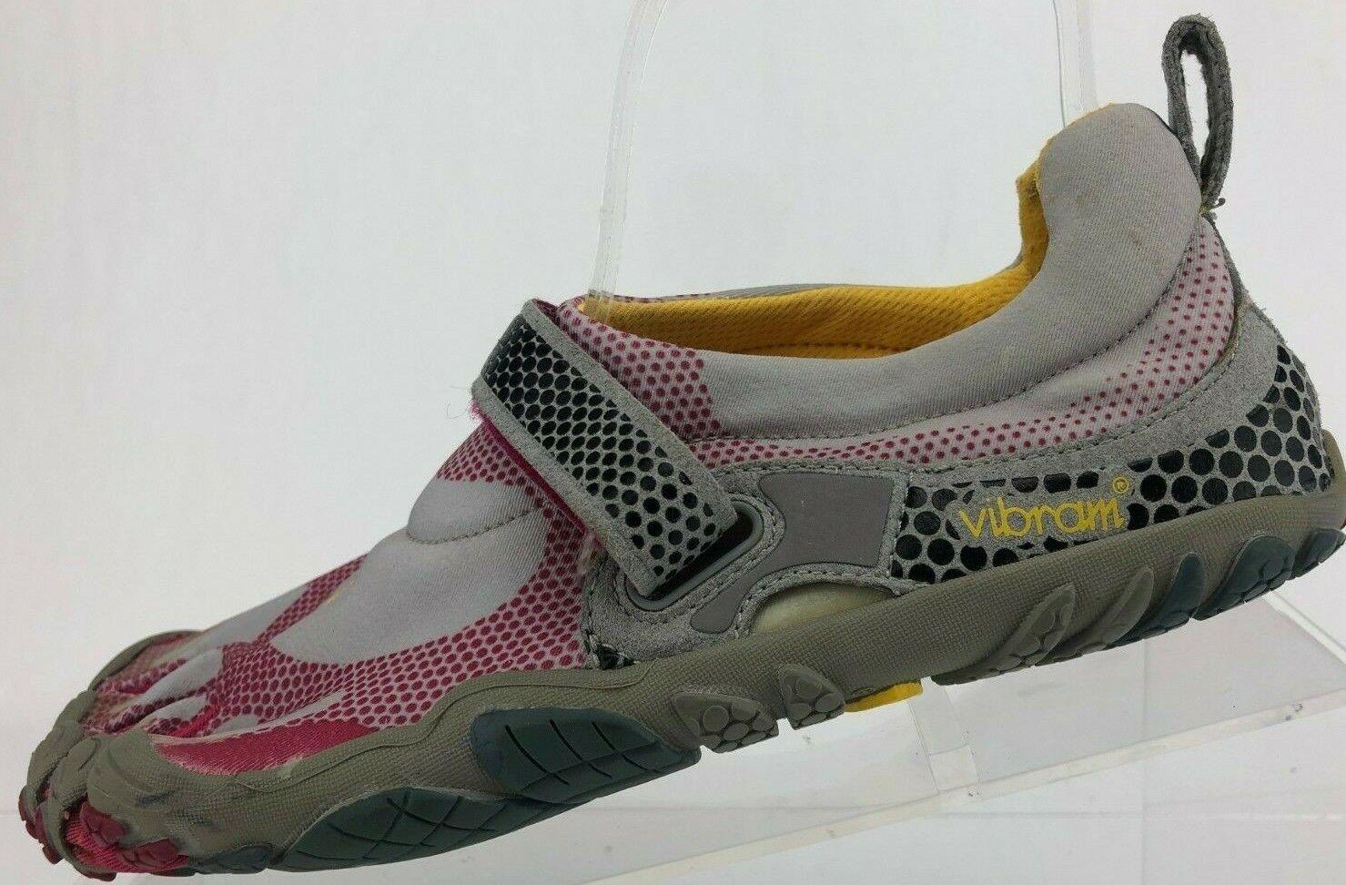 Vibram Five Fingers Bikila Trail Running shoes Barefoot Grey Pink Women 38 7,7.5