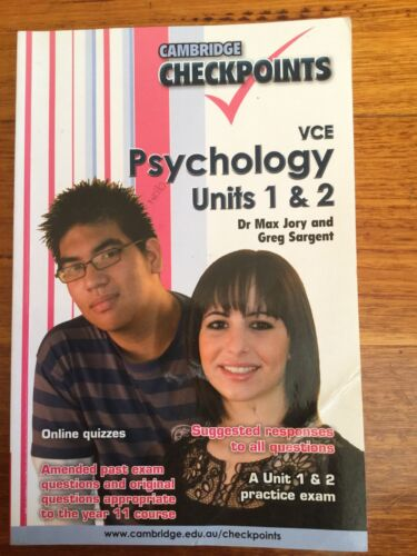1 of 1 - Cambridge Checkpoints VCE Psychology Units 1 and 2: Units 1 and 2 by Max...