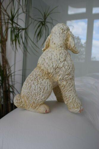 Deco personnage chien caniche Tierfigur Jardin Personnage hausfiguren chienne impolie assis NEUF