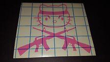 Hello Kitty Crossed M16s AR15s - Vinyl car truck van window decal sticker