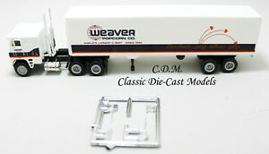 Freightliner-COE-WEAVER-POPCORN-Tractor-Trailer-HO-1-87-Scale-Vintage-Herpa-1022