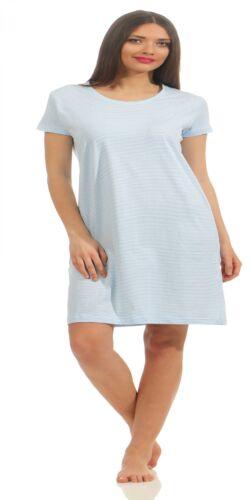 Normann Damen Bigshirt Nachthemd Streifenoptik auch in Übergrössen 214 90 903