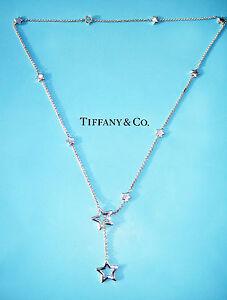 comprare popolare b28f9 a431c Dettagli su Tiffany & Co Stella Collegamento Lazo Argento Sterling Collana  47cm