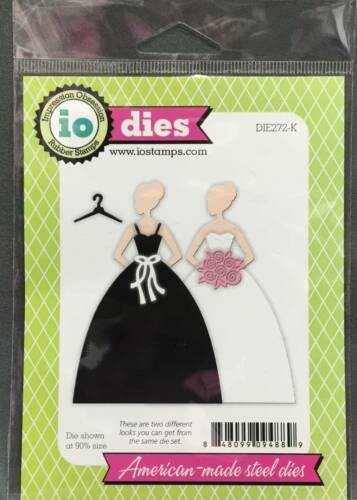 Wedding Gown metal Die Cut Stencil Impression Obsession Craft Cutting Dies Dress