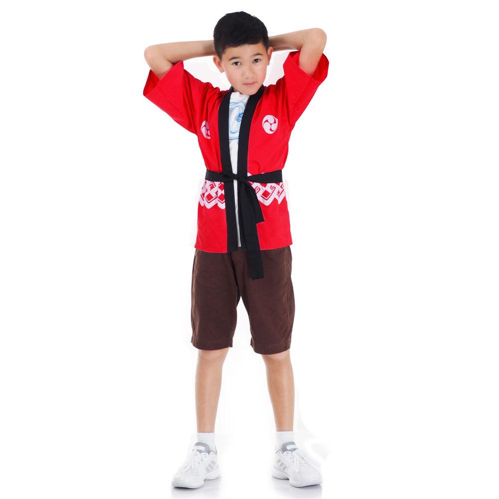 Unisex Japanese Happi Haori Kimono Sushi Chef Coat Jacket Cosplay Samurai Yukata