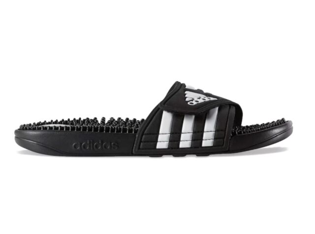 3d0700660 Black adidas Adissage Slide Sandals With Massage Nubs Womens Size 7 ...