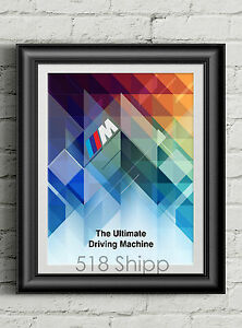 BMW-Art-Print-Ultimate-Driving-Machine-Roundel-M3-M4-M5-M6-X5-Poster-M-Sport