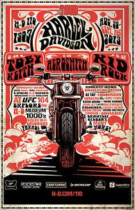 ed8b7c499727e Image is loading Harley-Motorcycle-Poster-Aerosmith-Toby-Keith-Kid-Rock-