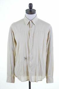 NORTH-SAILS-Mens-Shirt-Large-Khaki-Slim-Fit-JZ73