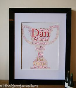 image is loading personalised word art print trophy congratulations card gift