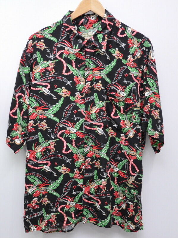 Reyn Spooner Mele Kalikimaka homme Hawaiian Joyeuses Fêtes chemise taille L