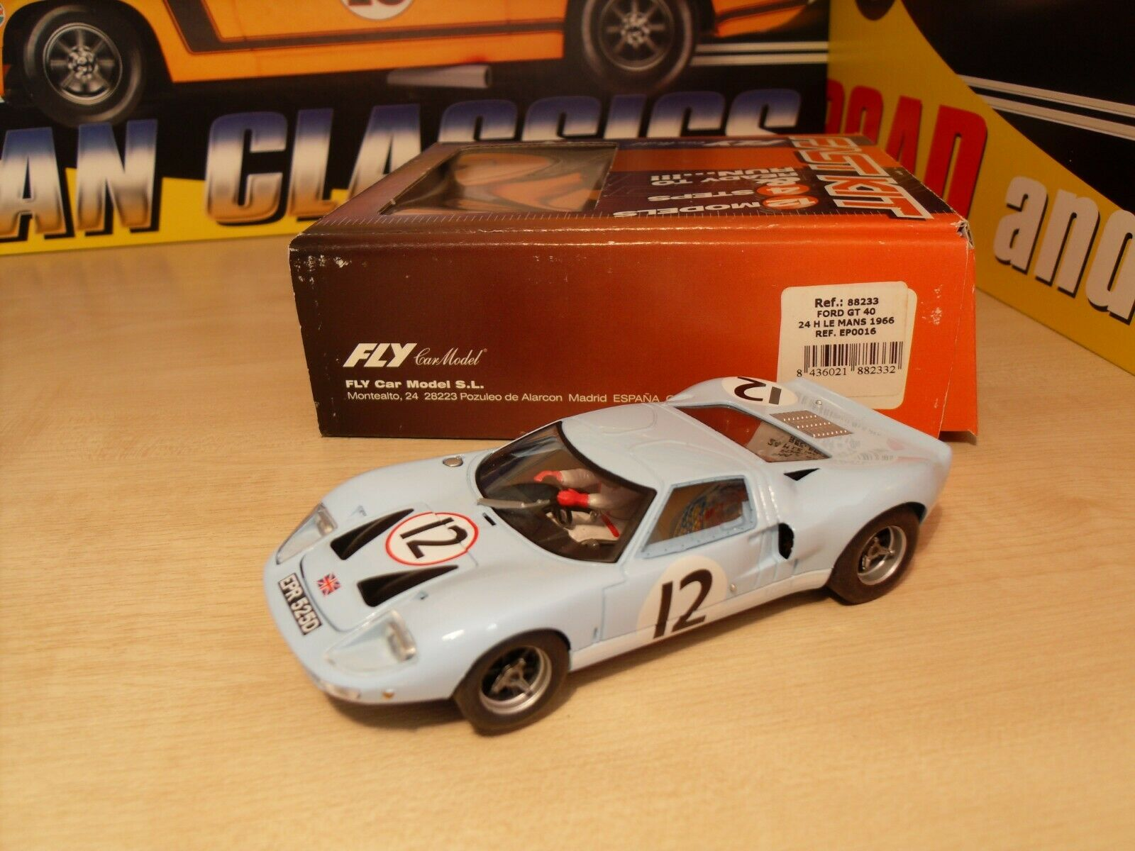 Fly 88233 - Ford GT40 '24h Le Mans 1966' - Brand New in Box.