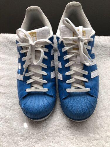Superstar Adidas misura Originals uomo Scarpe Columbia blu da 10 Nc 6dCqxw1