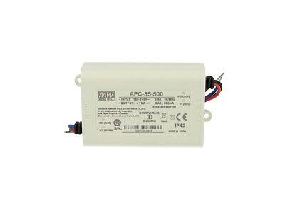 LED Driver CC MeanWell APC-25-350 transformador 350 mA 25 V-70 V CC 25 W corriente constante IP42