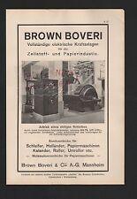 MANNHEIM, Werbung 1929, Brown Boveri & Cie. AG elektrische Kraftanlagen Papier
