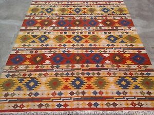 Image Is Loading Vintage Turkish Wool Rug Antalya Kilim 8