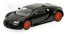 1:18 Minichamps BUGATTI VEYRON SUPER SPORT 2010 BLACK METALLIC WITH ORANGE RIMS