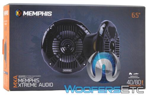 "MEMPHIS MXA602SB BLACK 6.5/"" MARINE BOAT 2-WAY COAXIAL POWERSPORTS SPEAKERS NEW"