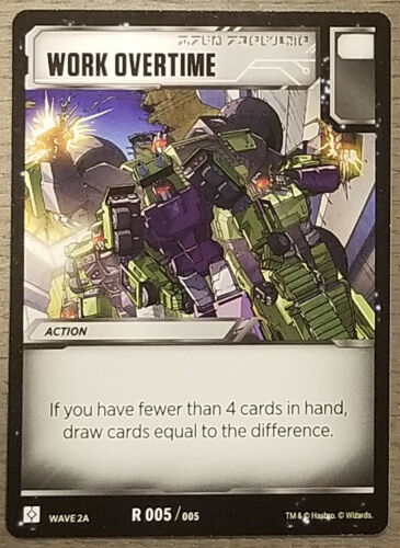Wave 2A Work Overtime Transformers TCG R005