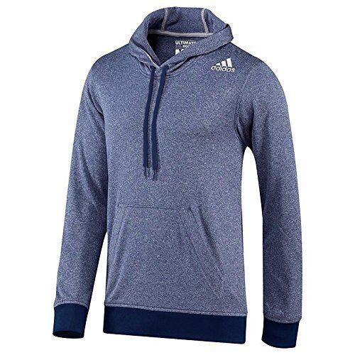 Adidas Men/'s Ultimate Base Hoodie Night Blue//Light Grey