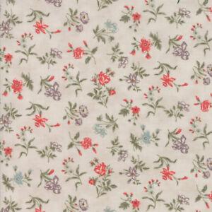 Moda Fabric Quill Blossoms Parchment - Per 1/4 Metre