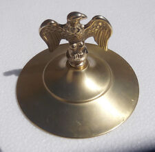 "TOP CAP LID  BRASS EAGLE FOR  2  WHEEL COFFEE GRINDER    7 1/2 ""dia"