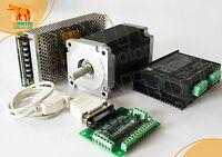 NEMA 34 Stepper Motor 892oz-in+ CNC Driver 80VDC/7.8A/256 Microstep+ Mill Power