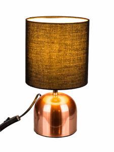 Kupferfarbene Dekoration.Details Zu Kupferfarbene Tischlampe Metall Leuchte Lampe Nachttisch Schirmlampe Deko