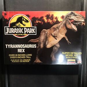 Jurassic-Park-T-Rex-Dinosaur-Model-Kit-BRAND-NEW-SEALED-Vintage-1993-Lindberg