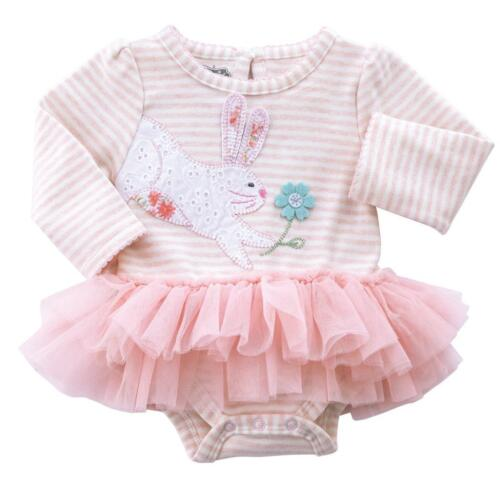 Mud Pie Easter Collection Bunny Tutu Spring Bodysuit Crawler 1 Pc Outfit Set New