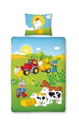 Bauernhof Tiere 100x135 Cm Reines Und Mildes Aroma Baby/kinder Bettwäsche 2 Tlg 40x60 Lego Duplo