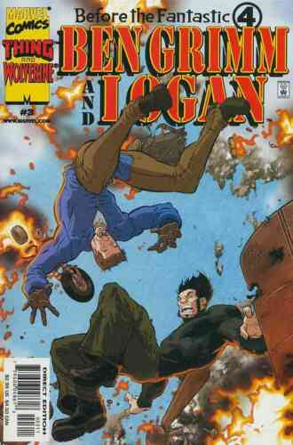 BEFORE THE FANTASTIC FOUR BEN GRIMM /& LOGAN #1-3 NEAR MINT COMPLETE SET 2000