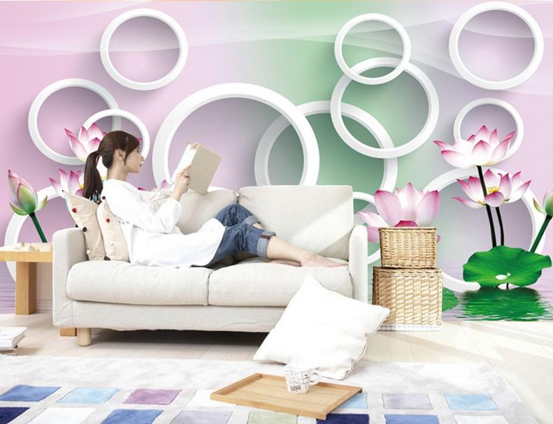 3D Lotus Teichring 863 Tapete Wandgemälde Tapete Tapeten Bild Familie DE Summer  | In hohem Grade geschätzt und weit vertrautes herein und heraus  | Der neueste Stil  | Won hoch geschätzt und weithin vertraut im in- und Ausland vertraut