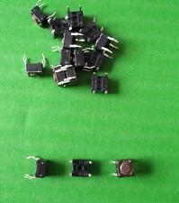 Tact Switch 6 mm 6 X 6 6mm Redondo 4.3mm botón al ras DTS-61N X 25 un. @ £ 0.04p cada uno