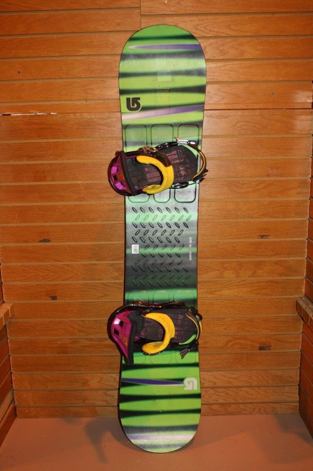 Burton LTR Wide Snowboard 155cm, Large Burton Bootlegger Bindings Lot 1410