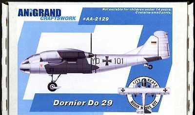Anigrand 1/72 DORNIER Do-29 German Tilt Propeller VTOL Aircraft