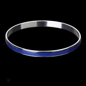 Popular Unisex Copper Cuff Bangle Bracelet Emotion Feeling Color Changing