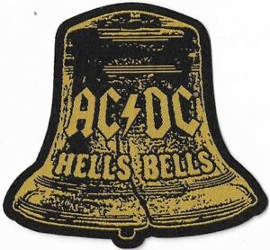 Official-Merch-Woven-Sew-on-PATCH-Heavy-Metal-Rock-AC-DC-Hells-Bells-Cut-out