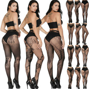71ac5a936 Fashion Sexy Women s Lace Patterned Pantyhose Tights Stocking Plus ...