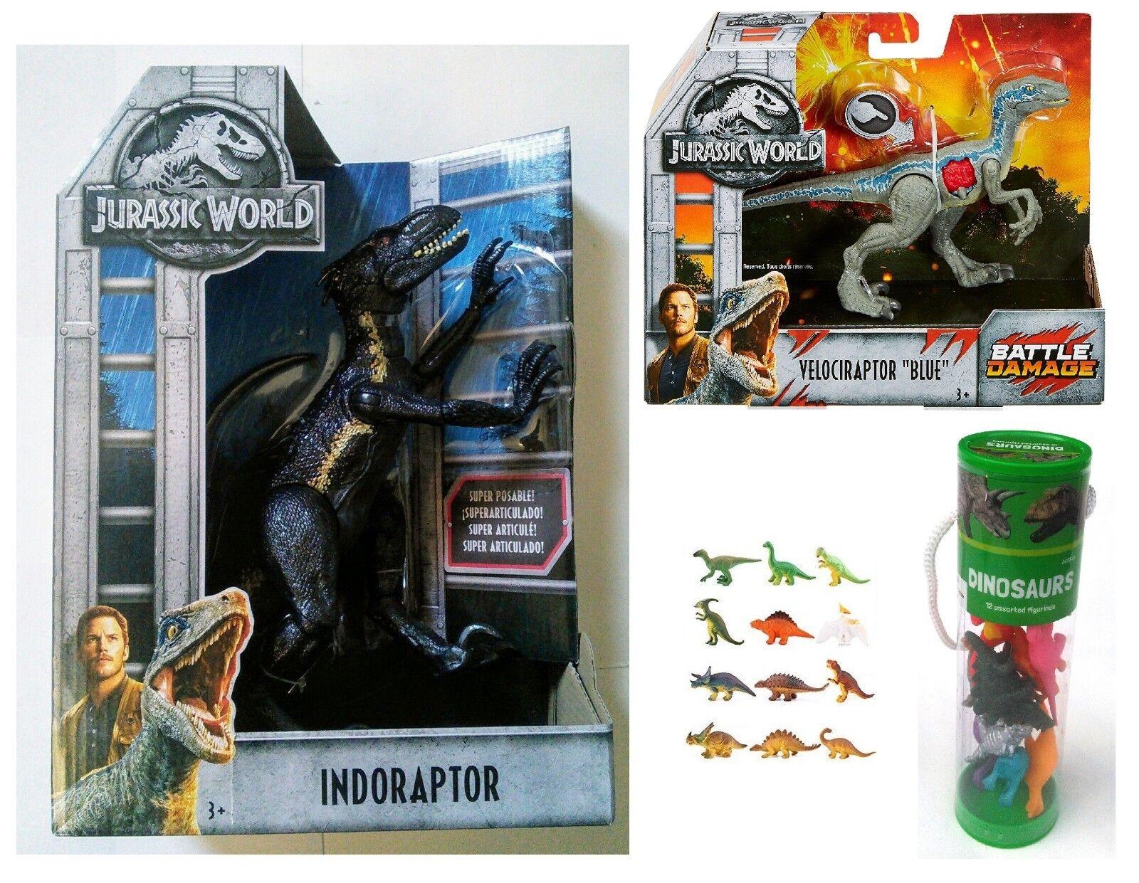welt indoraptor vs velociraptor blau mit bonus - mini - dino zahlen