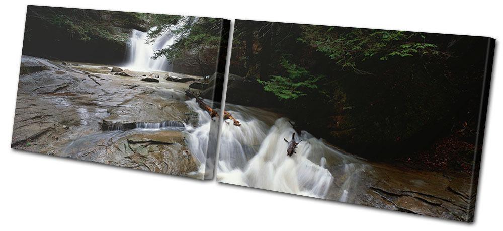 Landscapes Waterfall Stream MULTI TELA parete arte foto foto foto stampa a7345d