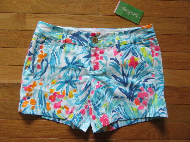 ad83cd2a90a83a Lilly Pulitzer Womens Callahan Shorts Serene Blue Tippy Top 00 for sale  online | eBay