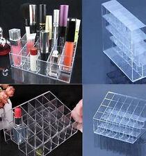24 in plastica trasparente ROSSETTO MAKE UP Display Stand Organizer Cosmetici HOLDER CASE
