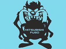 Taz Mitsubishi Fuso lado Adhesivo parachoques posterior ventana Pegatina Ventana de Coche DYI T33