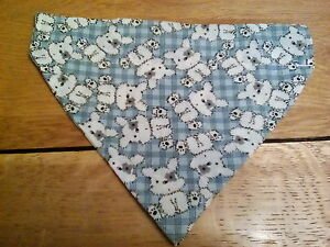 DOGGY neckerchief mediumreversible double sided scarf Handmade - <span itemprop=availableAtOrFrom>Redcar, United Kingdom</span> - DOGGY neckerchief mediumreversible double sided scarf Handmade - Redcar, United Kingdom