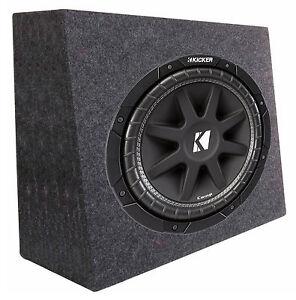 New-Kicker-Car-Audio-12-034-Loaded-Custom-Truck-Sub-Box-Enclosure-W-C12-Subwoofer