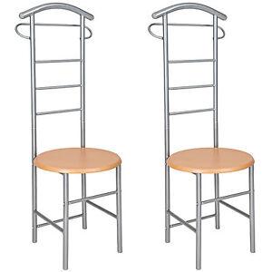 2x-Valet-de-chambre-chaise-valet-de-nuit-vetements-rangement-cintre-penderie